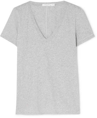 Rag & Bone The Vee Pima Cotton-jersey T-shirt - Gray