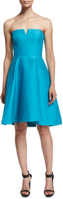 Halston Strapless Fit-&-Flare Dress, Caribbean