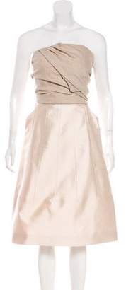 Louis Vuitton Strapless Silk-Blend Dress w/ Tags