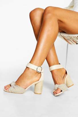 boohoo Extra Wide Fit Espadrille Heel Sandals