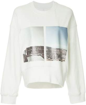 Song For The Mute cropped loose sweatshirt