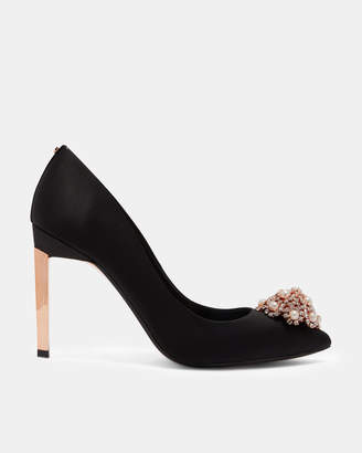 Ted Baker PEETCH2 Brooch detail satin courts