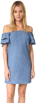 alice + olivia Tula Ruffle Off Shoulder Dress $264 thestylecure.com