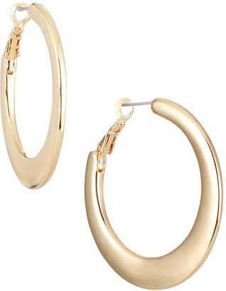 Lydell NYC Tapered Hoop Earrings, Golden