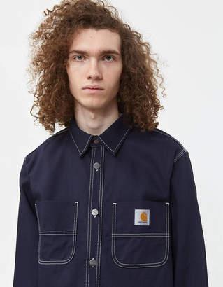 Carhartt Wip Chalk Twill Shirt Jacket in Dark Navy