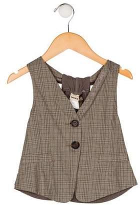 Ikks Girls' Plaid Vest w/ Tags