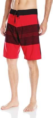 Burnside Men's Vortex Stretch Boardshort, Red