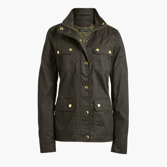 J.Crew Resin-coated twill jacket