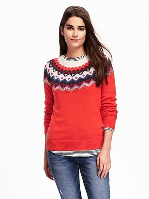 Sequined Fair Isle Sweater for Women $39.94 thestylecure.com