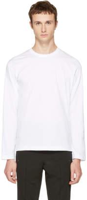 Comme des Garcons White Long Sleeve Basic T-Shirt