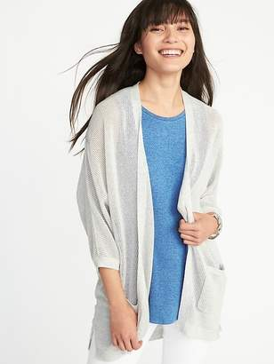 Old Navy Textured-Knit Dolman-Sleeve Open-Front Sweater for Women