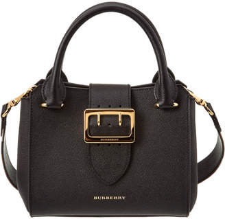 Burberry Small Grainy Leather Buckle Tote