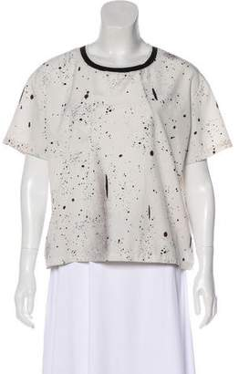 Opening Ceremony Dotted Short Sleeve Blouse