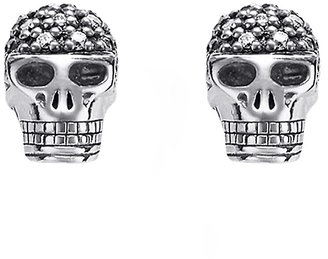 Thomas Sabo Rebel at heart Skull Diamond Stud Earrings
