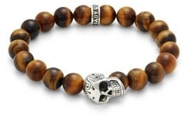 King Baby Studio Sterling Silver & Tiger's Eye Beaded Bracelet
