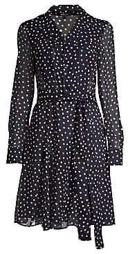 Derek Lam Women's Silk Polka Dot Shirtdress