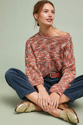 Solitaire Marled Cerise Pullover