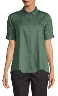ADAM by Adam Lippes Short-Sleeve Cotton Button-Down Shirt