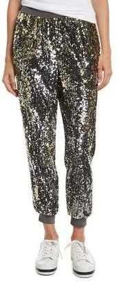 Alice + Olivia Pete Sequin Embellished Jogger Pants