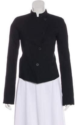 Isabel Benenato Linen & Virgin Wool Blend Blazer