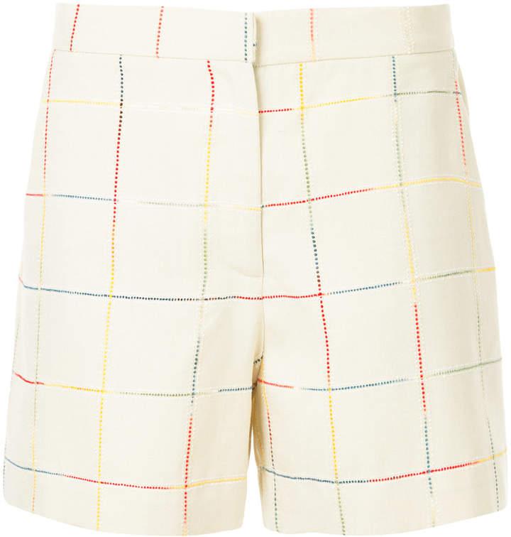 N Duo checkered shorts