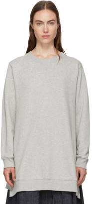 MM6 MAISON MARGIELA Grey Basic Wide Bottom Sweatshirt