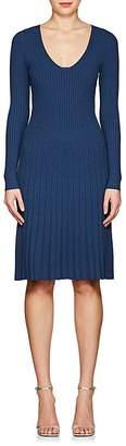 Narciso Rodriguez Women's Rib-Knit Long-Sleeve Dress