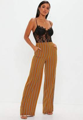 Missguided Tall Stripe Wide Leg Pants