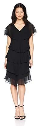 S.L. Fashions Women's Pebble Tier Dress (Petite and Regular Sizes)