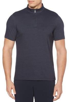 Perry Ellis Quarter Zip Long Sleeve Pullover