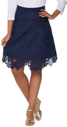 Isaac Mizrahi Live! Floral Lace Skirt