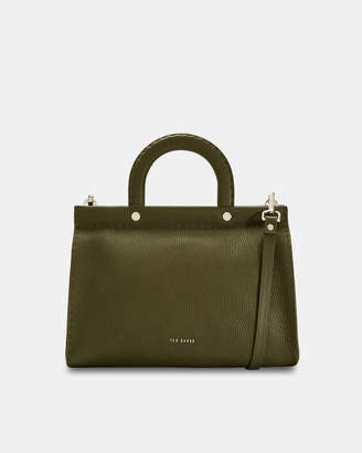 Ted Baker MONICAA Stab stitch midi leather tote