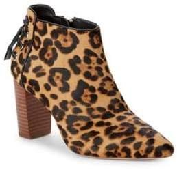 Rachel Zoe Trixie Leopard Print Calf-Hair Booties