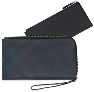 Burberry check travel wallet