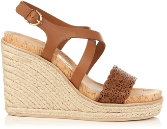 SALVATORE FERRAGAMO Gioela espadrille wedge sandals $647 thestylecure.com