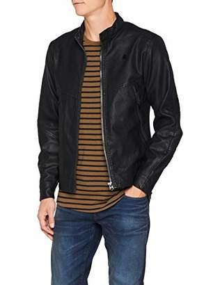 G Star Men's Motac Dc Biker JKT Jacket, (Dk Black 6484)