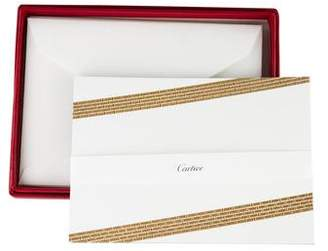Cartier Gilt & Embossed Stationery Set