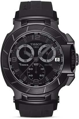 Tissot T-Race Men's Black Quartz Chronograph Sport Watch, 50mm
