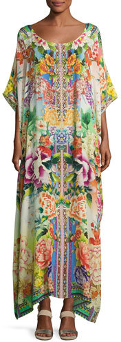 Camilla Camilla Embellished Kaftan Coverup Dress, Multicolor