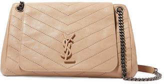 Saint Laurent Nolita Medium Quilted Leather Shoulder Bag - Beige
