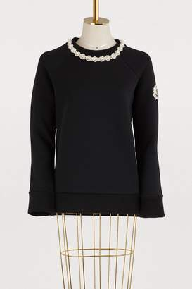 Simone Rocha Moncler Genius 4 Moncler jewel collar sweater