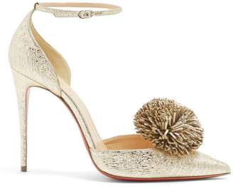 Christian Louboutin Tsarou 110 pompom-embellished leather pumps