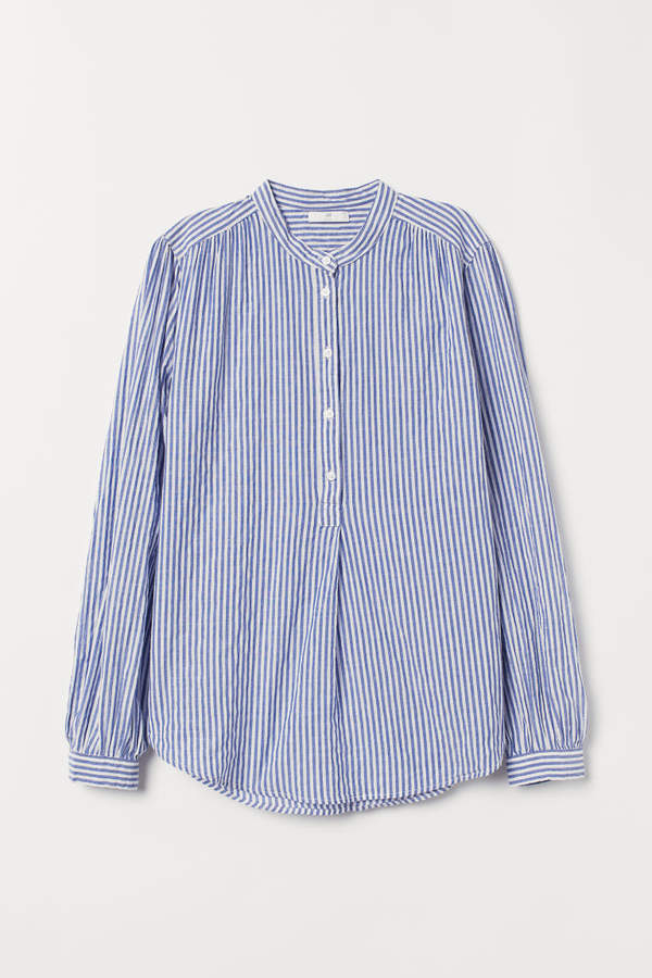 H&M - Striped Blouse - Blue
