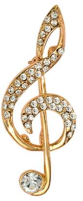 Epinki Women Brooch, Stainless Steel Music Notes Brooches and Pins Wedding Brooch