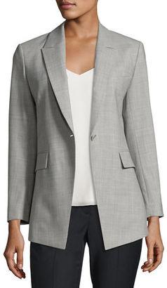 Theory Etiennette Continuous Long-Line Blazer $535 thestylecure.com