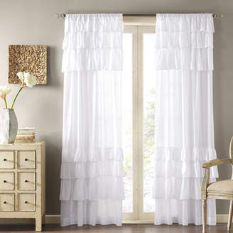 Ophelia & Co. Bayonne Solid Semi-Sheer Rod Pocket Single Curtain Panel