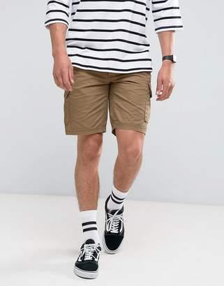 Pull&Bear Cargo Shorts In Tan