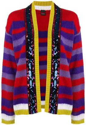Pinko sequinned striped cardigan