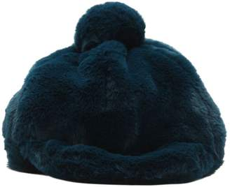 49682646e35 Raspberry Plum Faux Fur Hat W  Pompom