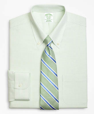 Brooks Brothers Milano Slim-Fit Dress Shirt, Non-Iron Double Mini-Windowpane